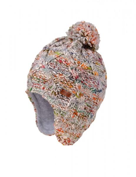 KIDS - Mütze ausgenäht Pompon, Effektgarn