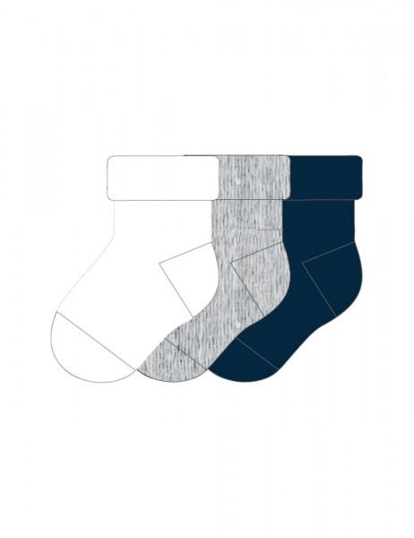 BABY-Socken, 3-er Pack Vollfrottee, Umschlag