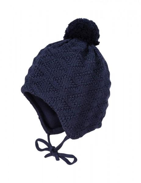 BILLI-Mütze, Struktur ausgenäht, Pompon