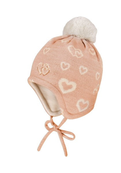 MINI GIRL-Mütze, ausgenäht Jacqu. Herz, Swarovski