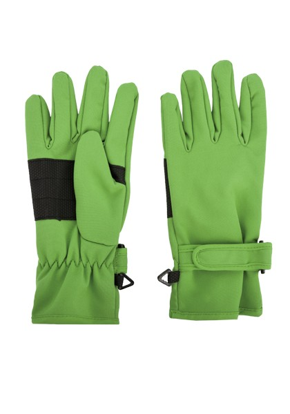 KIDS-Fingerhandschuh Softshell, Klettriegel