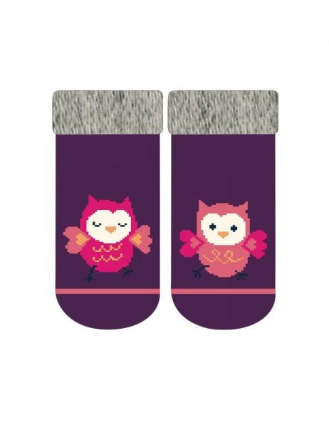 BABY GIRL-Socken, Vollfrottee Eulen