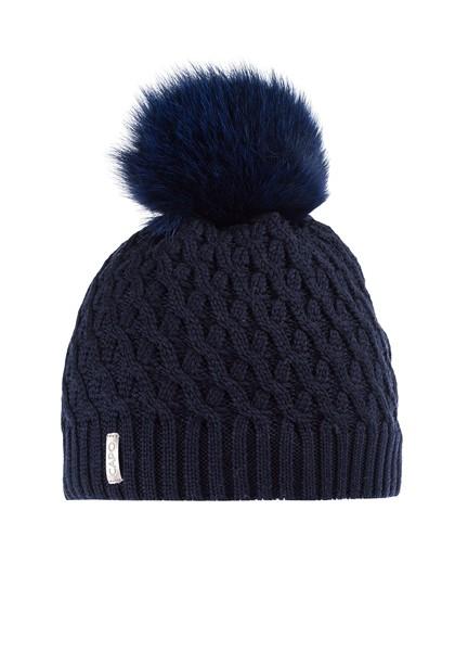 CAPO-FUR CAP 191-312 / fake fur pompon