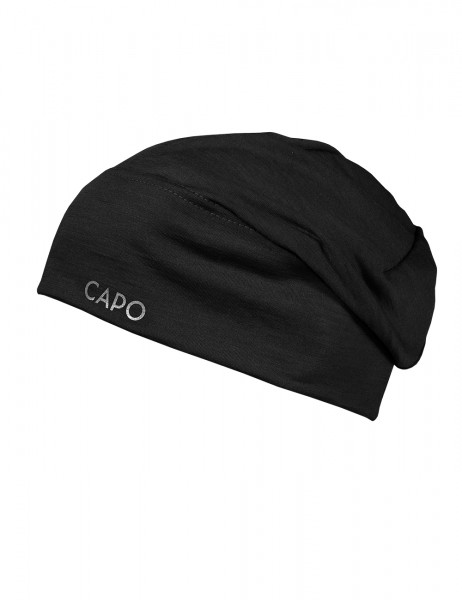 CAPO-WOOL JERSEY CAP LONG merino wool