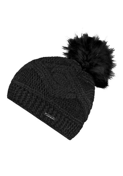 CAPO-CHALET CAP fake fur pompon