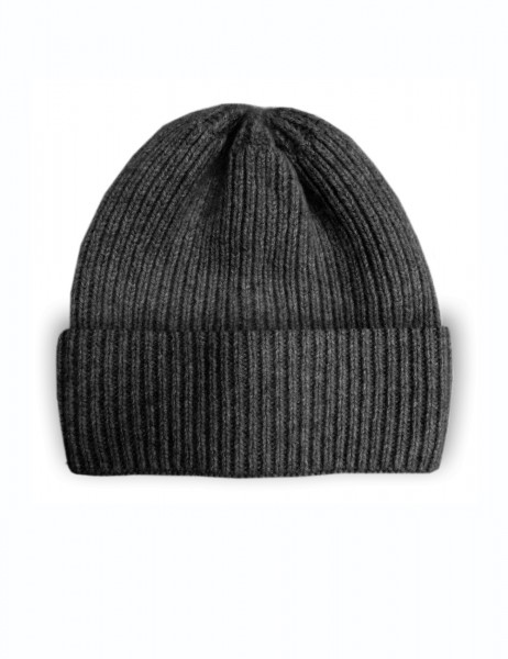 CAPO-DOUX CAP knitted cap, ribbed, turn up