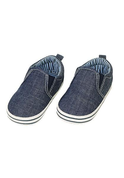 Schuhe uni mit Gummieinsatz beschichtete Sohle