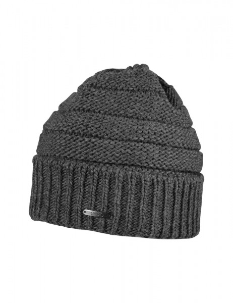 CAPO-PIPER CAP knitted cap, turn up, short fleece lining