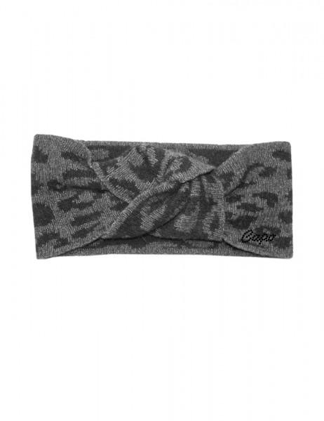 CAPO-LYA HEADBAND leo jacquard, knot in front, CAPO rhinestones