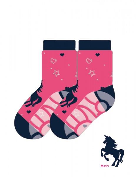 MINI GIRL-Socke, Einhorn Vollfrottee, ABS Sohle