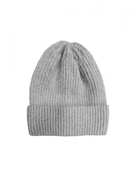 CAPO-DOUX CAP LONG knitted cap, ribbed, turn up