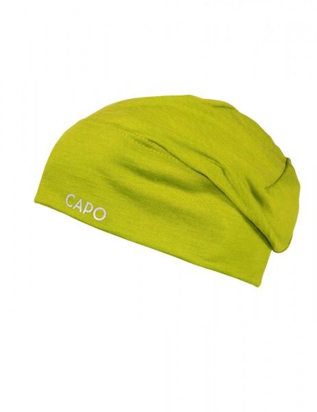 CAPO-WOOL JERSEY CAP LONG merino wool