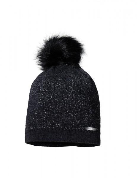 CAPO-LIL CAP fake fur pompon