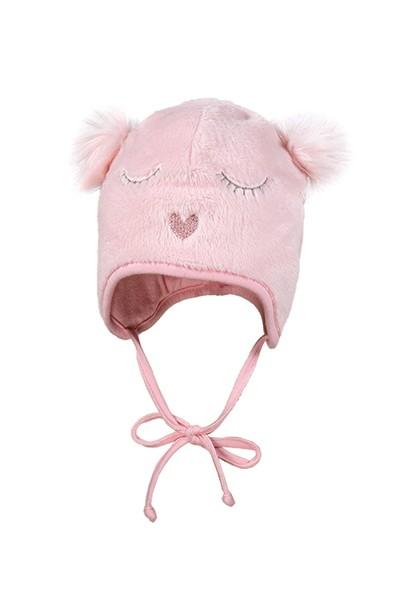 BABY GIRL-Mütze, Gesicht, 2 Öhrchen, Vollfutter