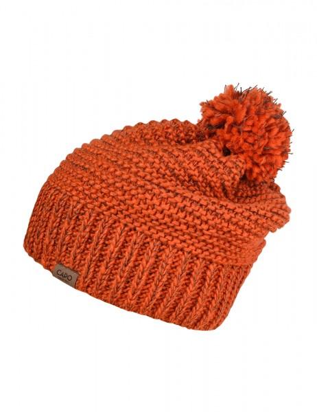CAPO-LAVI CAP knitted cap, wool pompon, short fleece lining