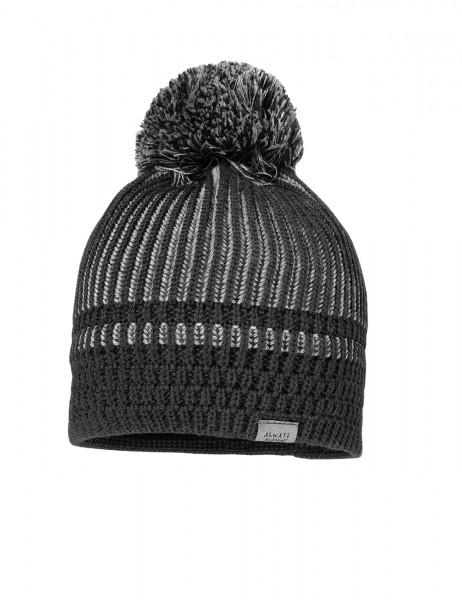 ESKE-Mütze, Struktur Pompon, Merino-Wolle