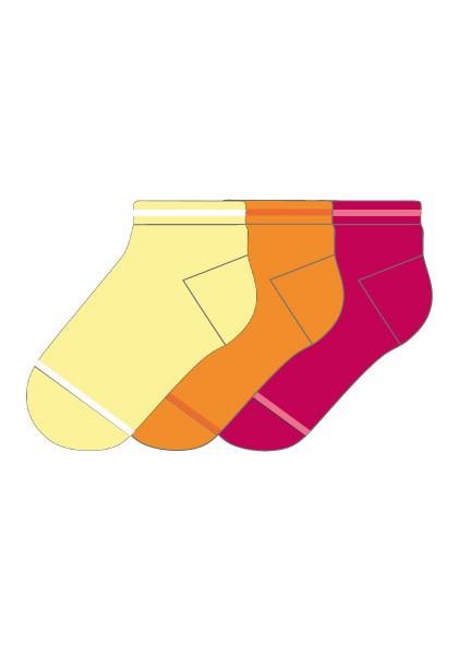 MINI KIDS UNISEX-Sneaker,3er Pack, glatt