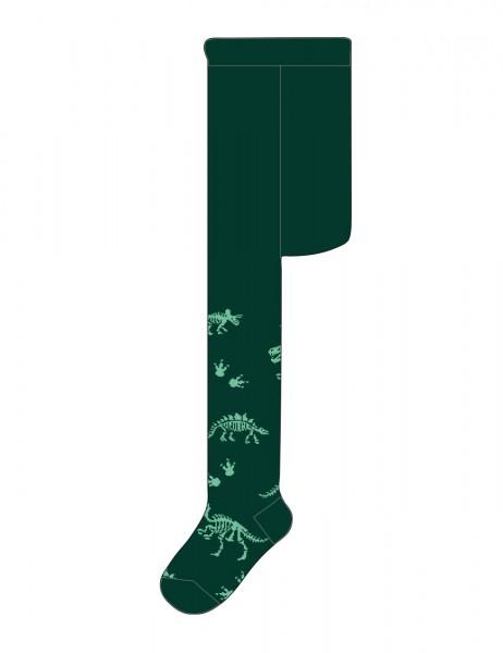 MINI BOY-Strumpfhose Dinoskelett, glatt