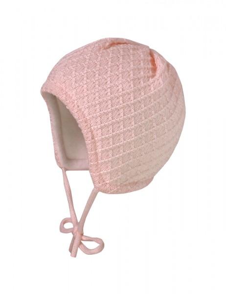 BABY-Mütze ausgenäht Rhomben-Struktur