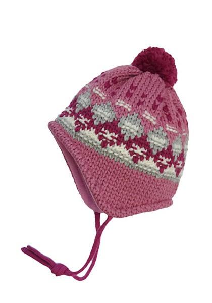 MINI-Mütze, ausgenäht Grobstrick, Jacquard