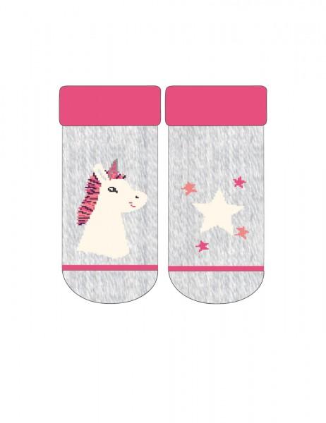 BABY GIRL-Socken, Vollfrottee Einhorn, Sterne