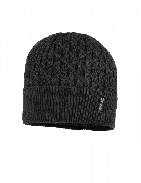 CAPO-PIERRE CAP knitted cap, turn up, short fleece lining